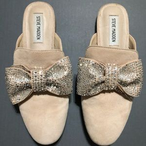 Steve Madden Harlan Suede Bow Mules
